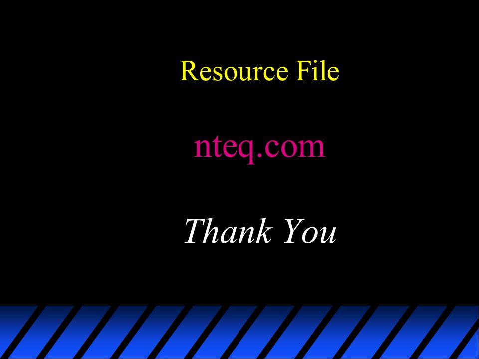 Resource File nteq.com Thank You