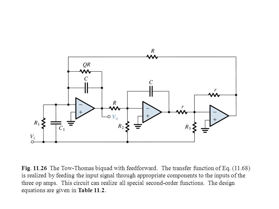 Fig.11.26 The Tow-Thomas biquad with feedforward.