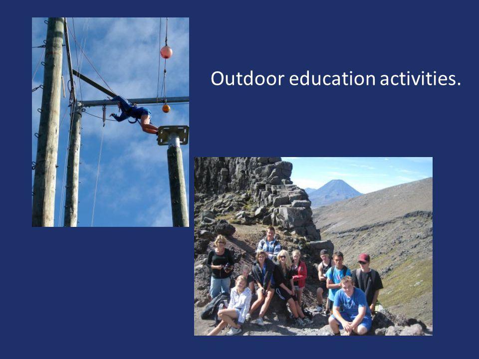 Outdoor education activities.