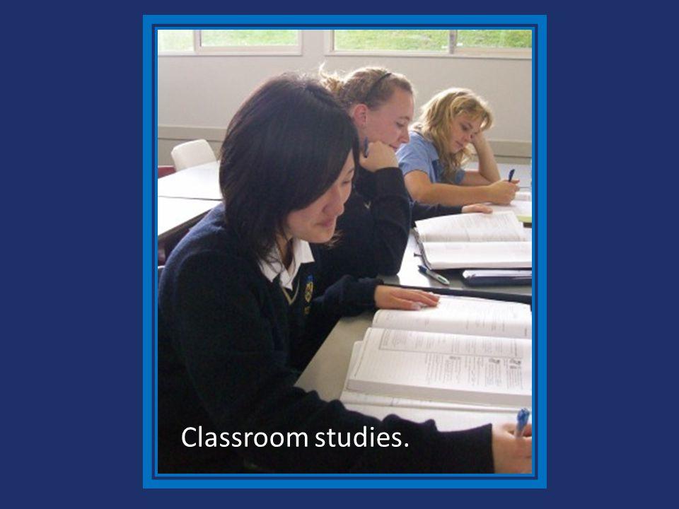 Classroom studies.