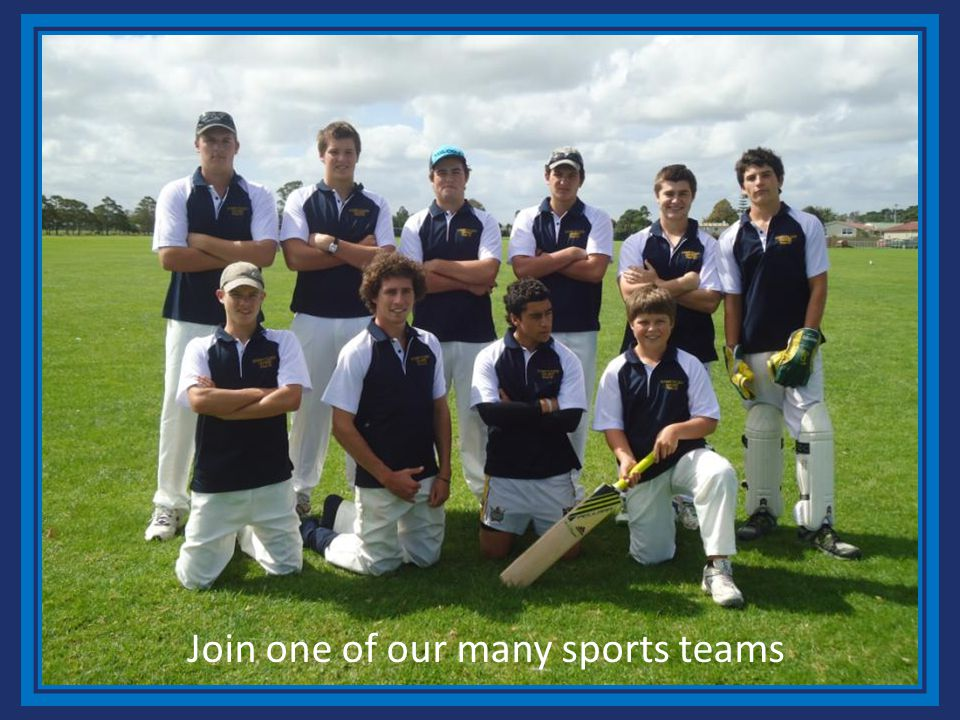 Join one of our many sports teams