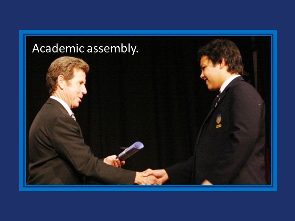 Academic assembly.