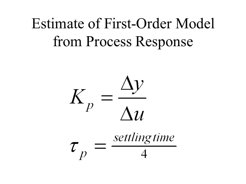 Estimate of First-Order Model from Process Response