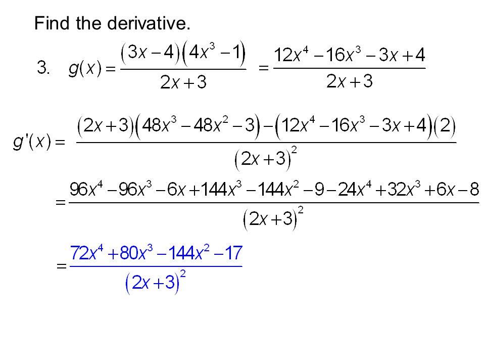 Find the derivative.