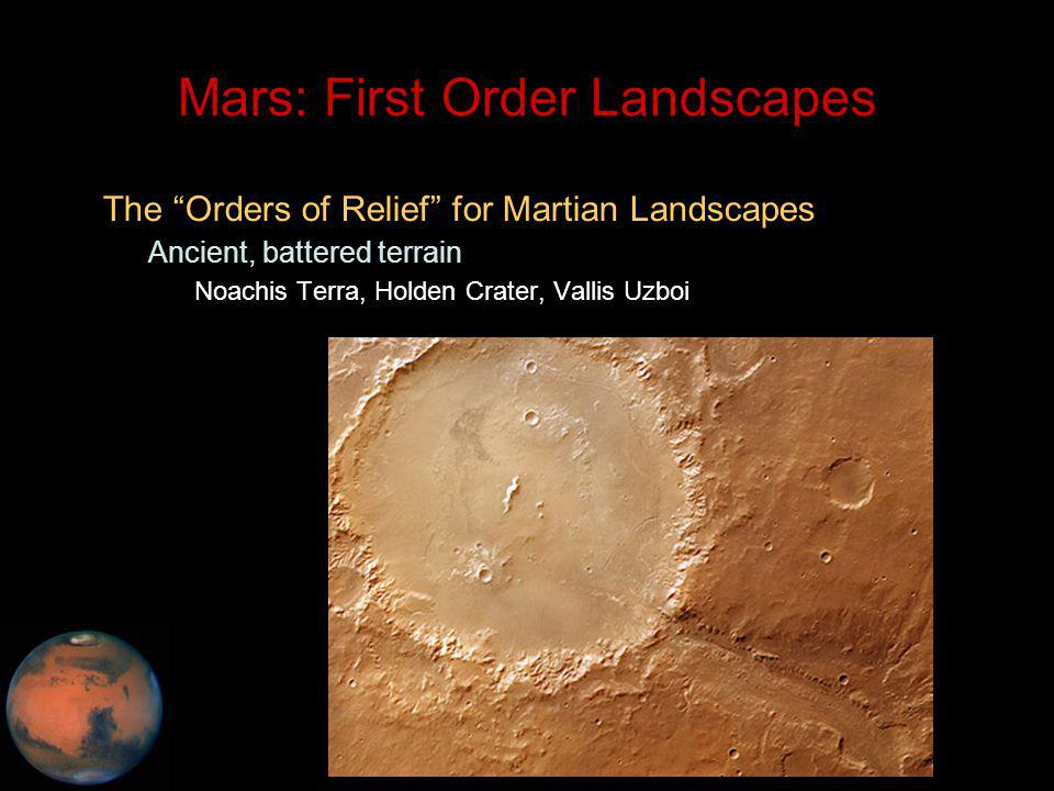 C.M. Rodrigue, 2014 Geography, CSULB Mars: First Order Landscapes The Orders of Relief for Martian Landscapes – Ancient, battered terrain Noachis Terr