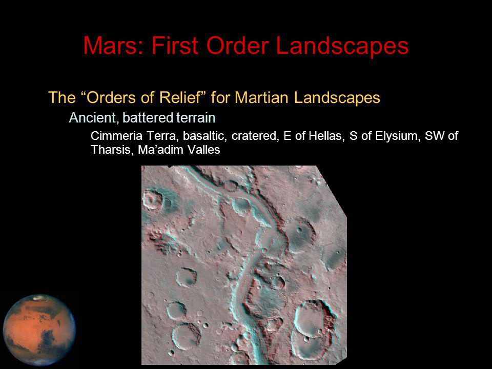 C.M. Rodrigue, 2014 Geography, CSULB Mars: First Order Landscapes The Orders of Relief for Martian Landscapes – Ancient, battered terrain Cimmeria Ter