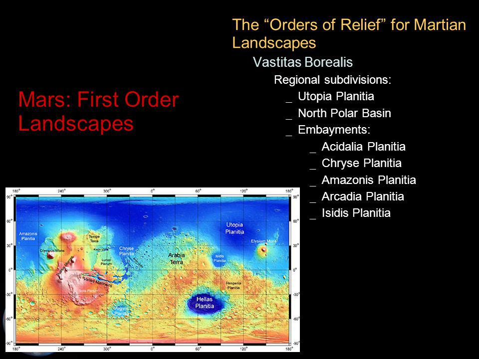 C.M. Rodrigue, 2014 Geography, CSULB Mars: First Order Landscapes The Orders of Relief for Martian Landscapes – Vastitas Borealis Regional subdivision