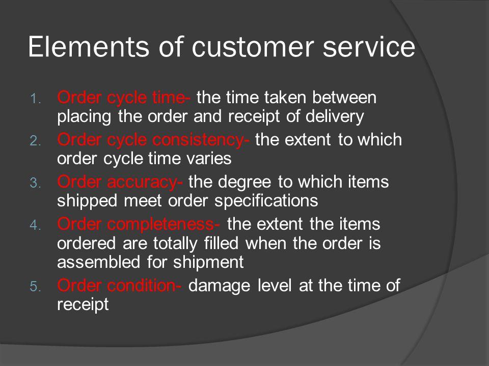 Other elements Patronage Segmentation Customer perception Profit impact Competitive advantage Location Warehouse location