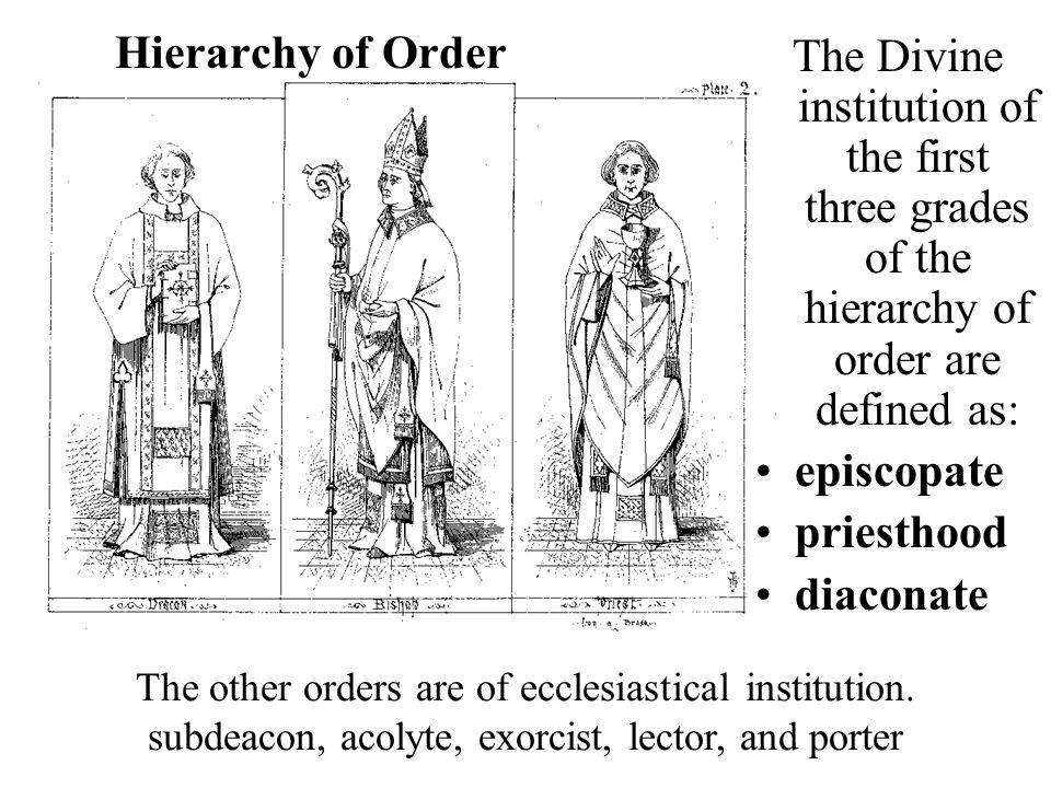 ORDAINED EPISCOPATEPRIESTHOOD Diocesan SecularReligious CommunityDIACONATE TransitionalPermanent (Before Priesthood) Non-Ordained Seminarians Students for priesthood before Diaconate