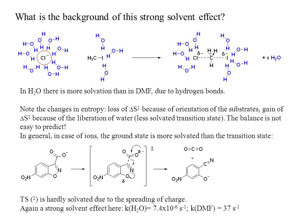 What is the background of this strong solvent effect.