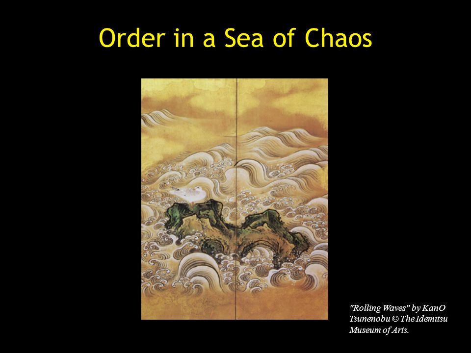 Order in a Sea of Chaos Rolling Waves by KanO Tsunenobu © The Idemitsu Museum of Arts.
