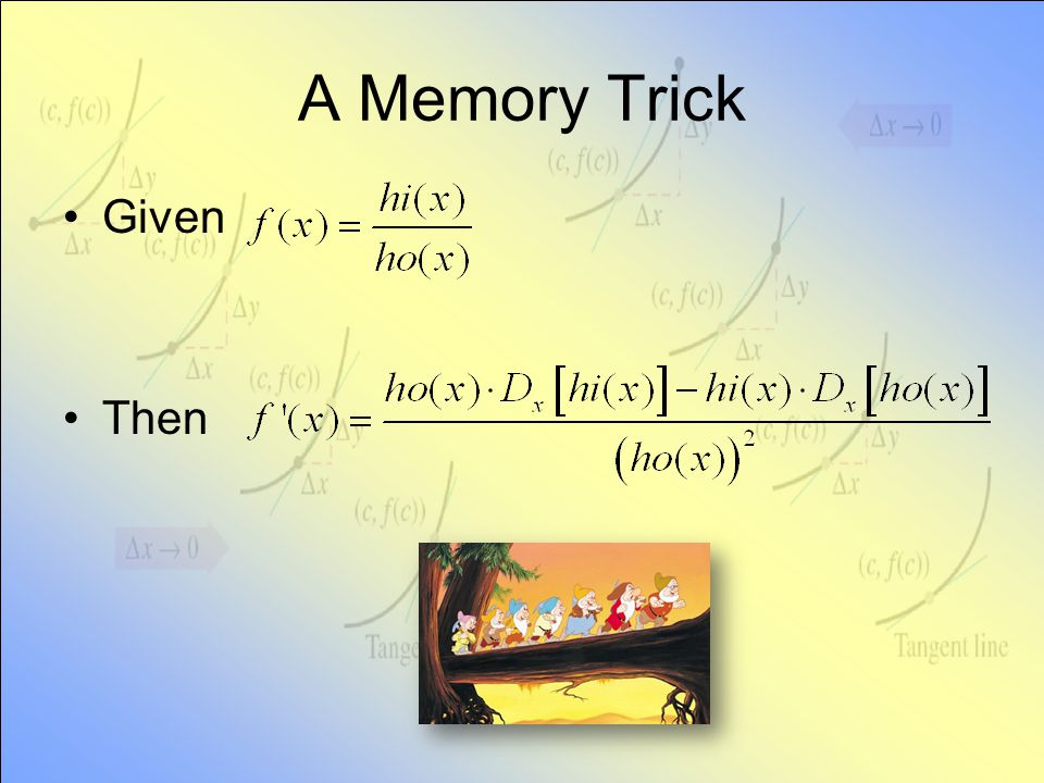 A Memory Trick Given Then