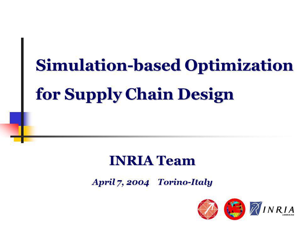 12 Simulation-based optimization Step1: Generate an initial population of chromosomes 1 chromosome = 1 network configuration0110 010 0 001 0 010 1 100 0