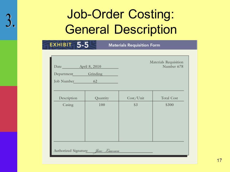17 Job-Order Costing: General Description