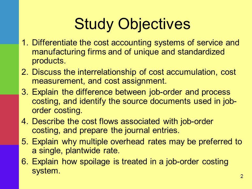 23 Job-Order Costing: Specific Cost Flow Description