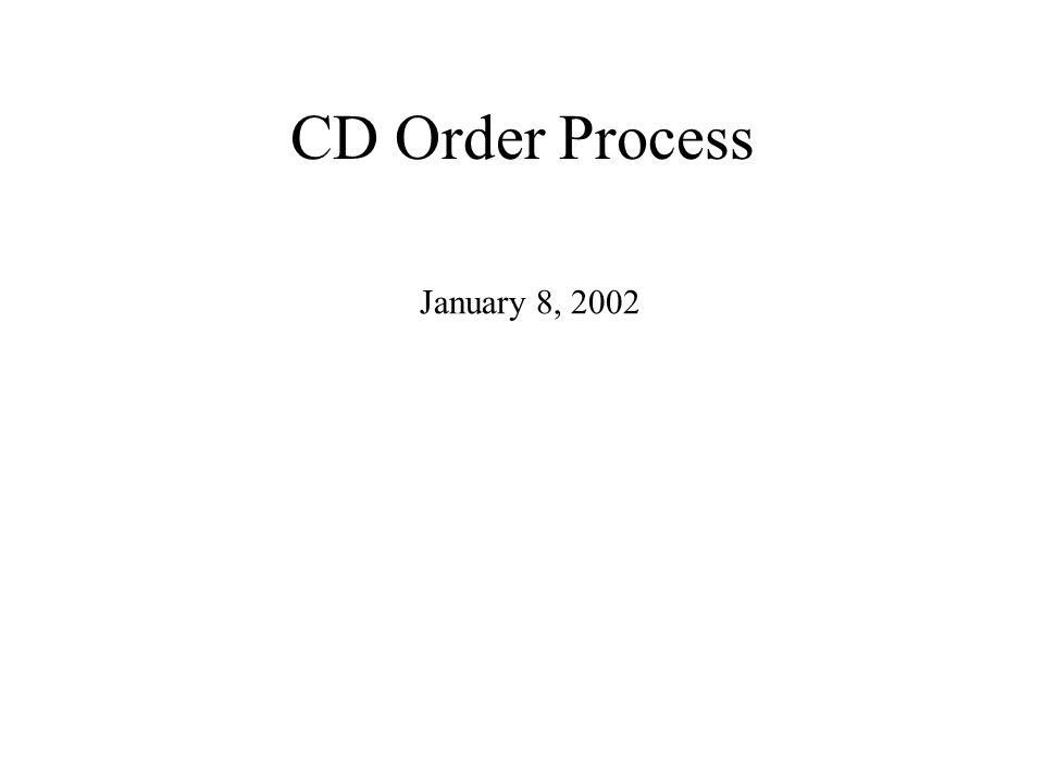 CD Order Process January 8, 2002