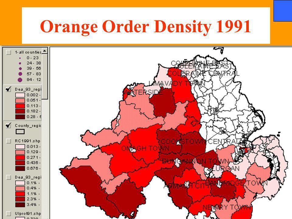Orange Order Density 1991