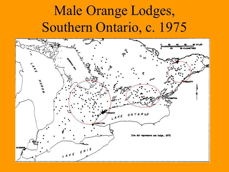Male Orange Lodges, Southern Ontario, c. 1975