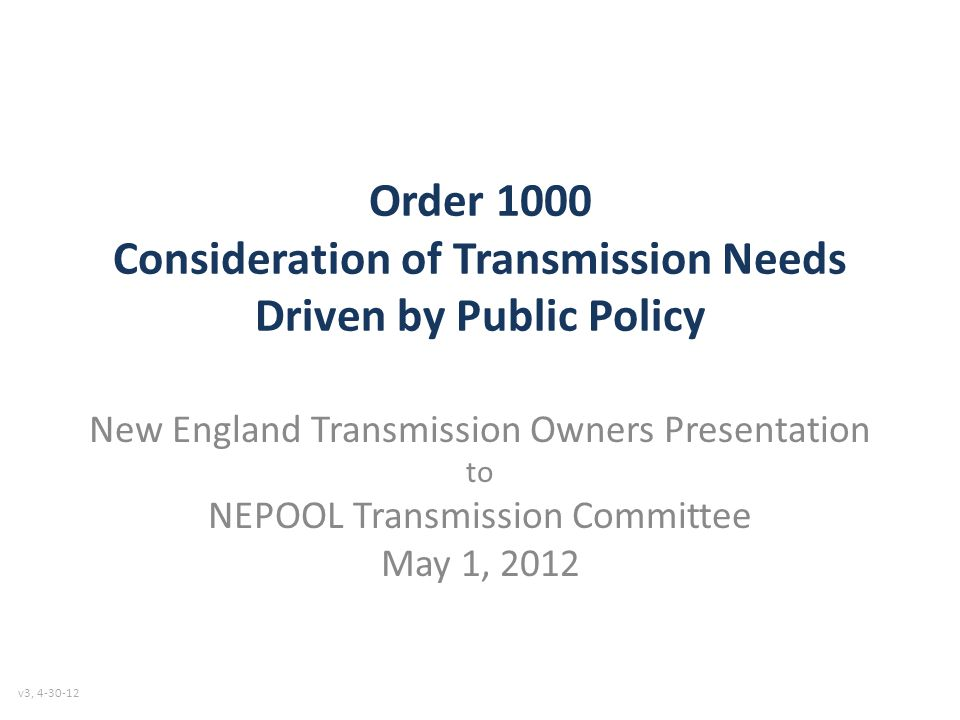 Key Aspects of Enhanced Proposal 1.Public Policy economic evaluation of generation & market alternative potential performed early 2.NESCOE/States have decisional authority to: – Define: public policy requirements and the criteria to meet them – Define benefits for default cost allocation – Specify the project selection criteria – Opt-out of the preferred solution where public policy will be satisfied via alternative means – Adopt an alternate cost allocation.