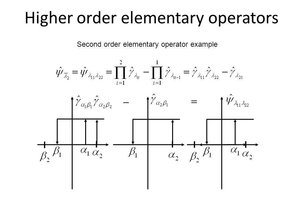 Higher order elementary operators Second order elementary operator example