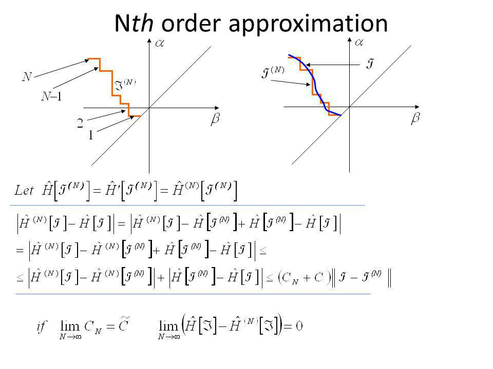 Nth order approximation