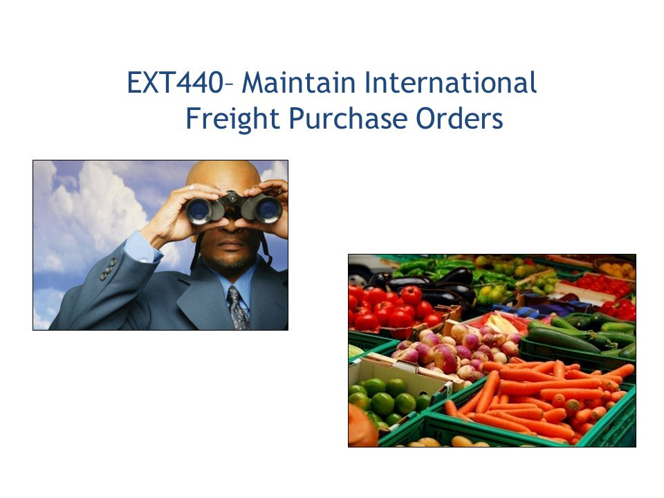 EXT440– Maintain International Freight Purchase Orders
