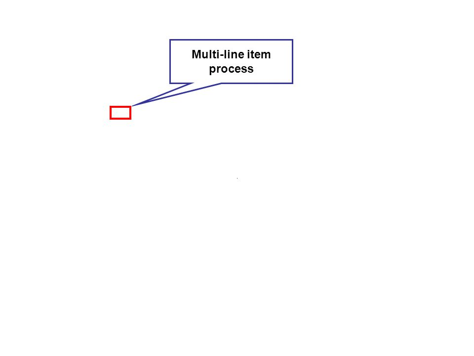 Multi-line item process