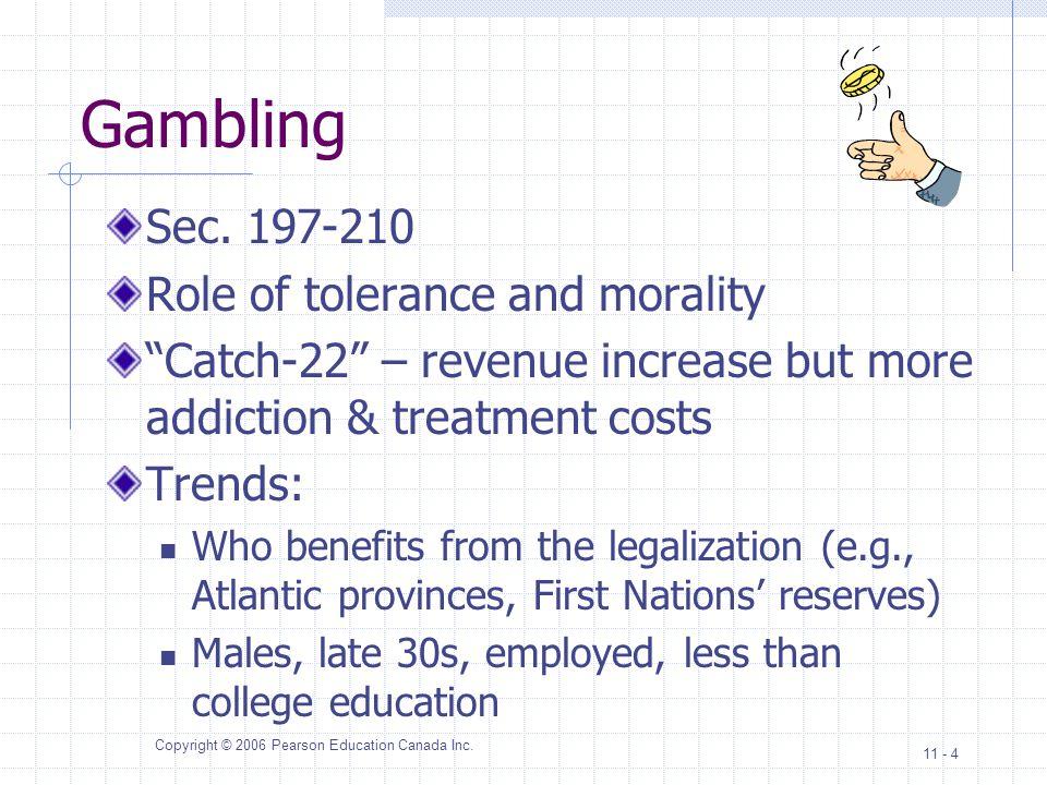 Copyright © 2006 Pearson Education Canada Inc.11 - 4 Gambling Sec.