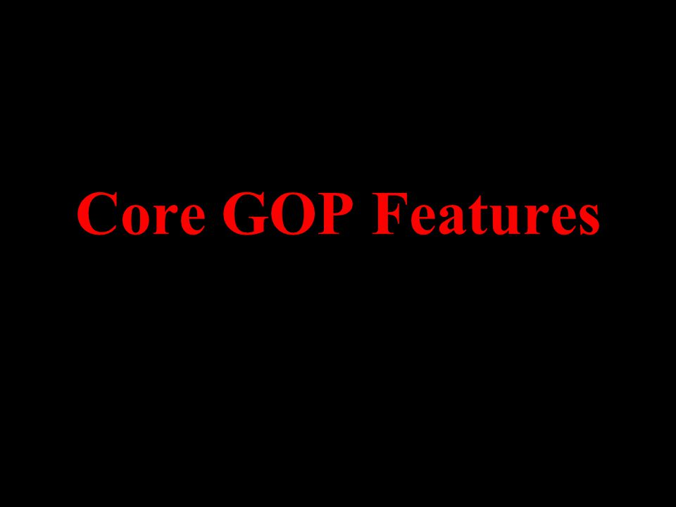 Core GOP Features