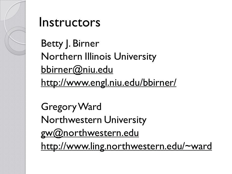Instructors Betty J.