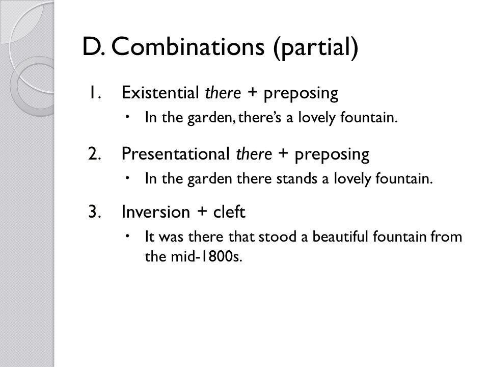 D. Combinations (partial) 1.