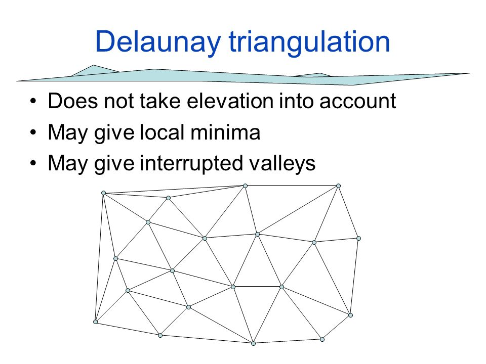 Experiments Do higher order Delaunay triangulations help to reduce local minima.