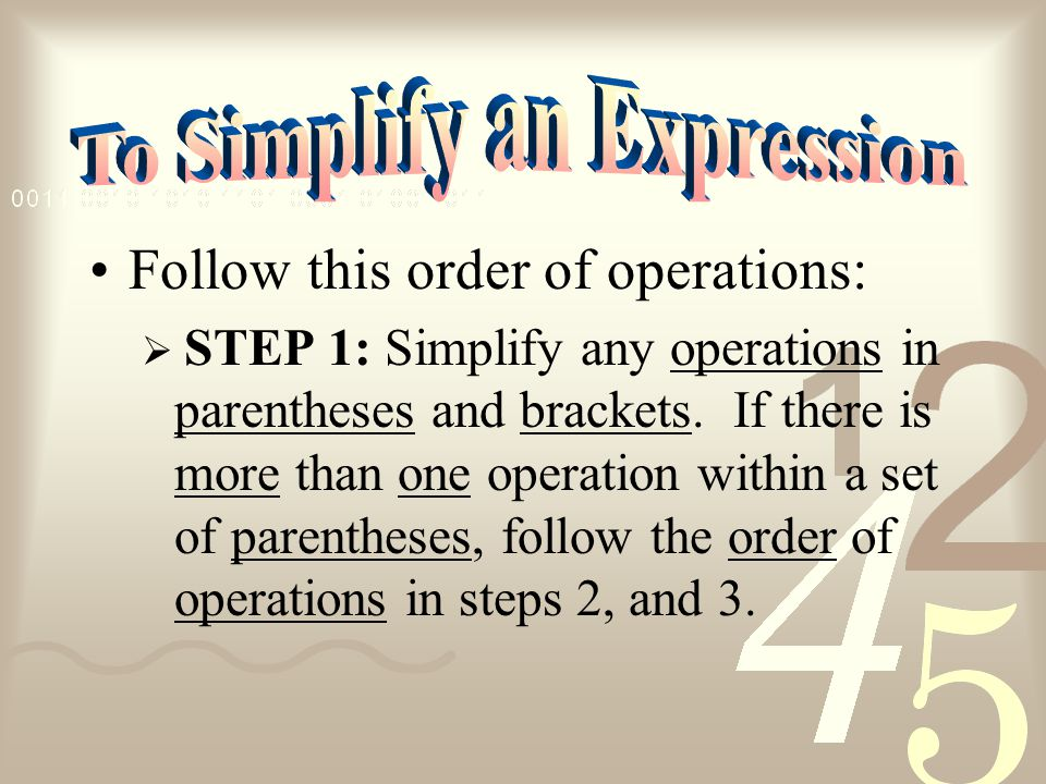 The order in which operations are computed in an expression.