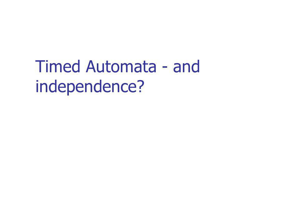 Timed Automata - and independence?