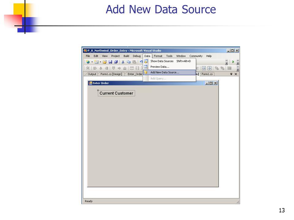 13 Add New Data Source