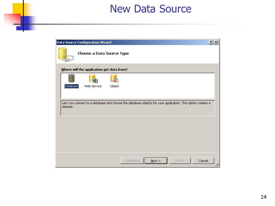 14 New Data Source