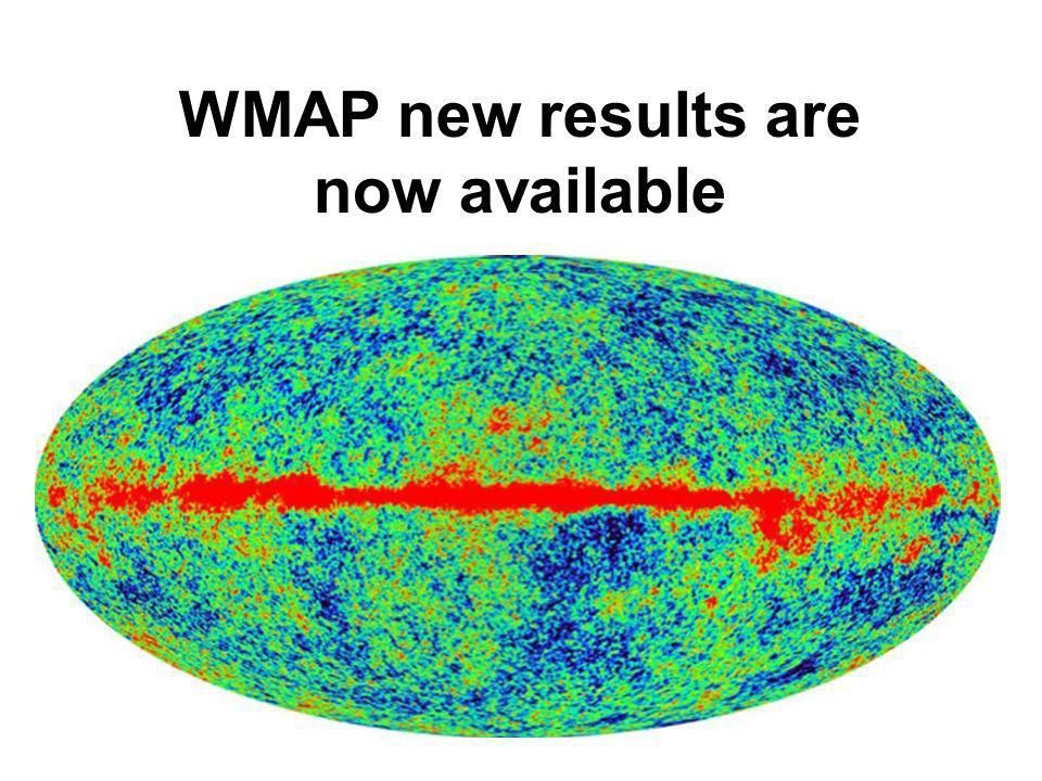 WMAP new results are now available