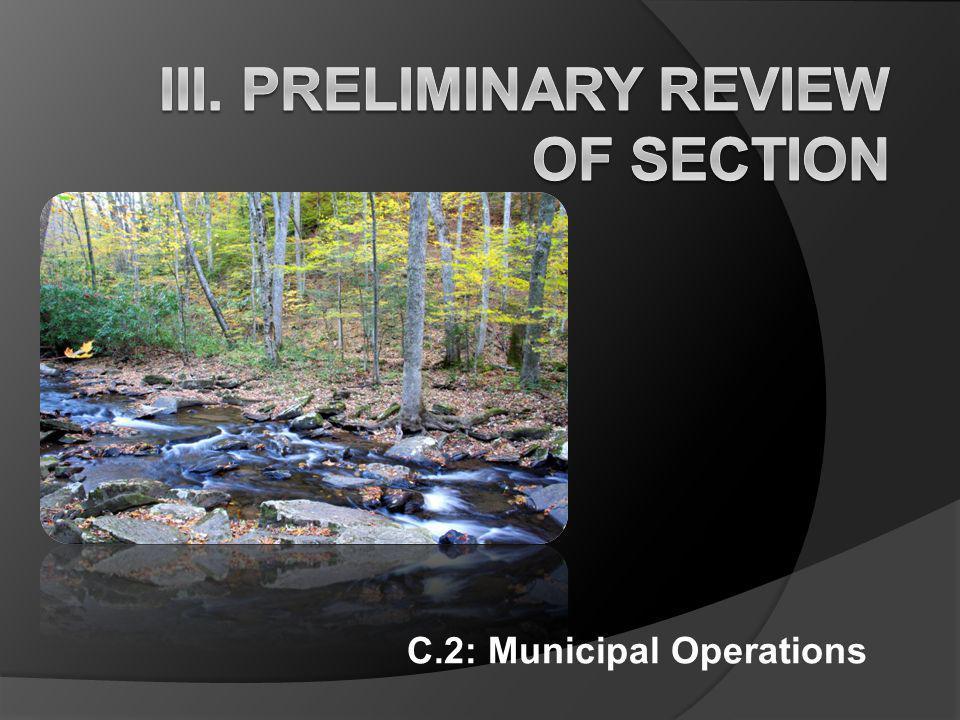 C.2: Municipal Operations