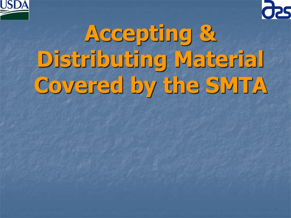 Accepting & Distributing Material Covered by the SMTA