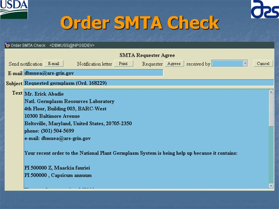 Order SMTA Check