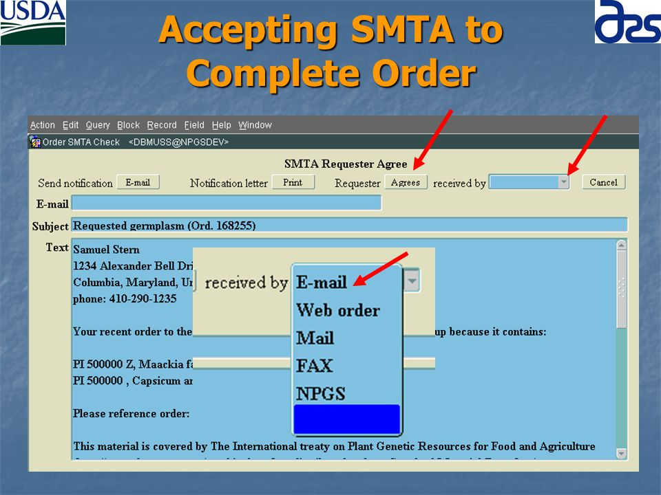 Accepting SMTA to Complete Order