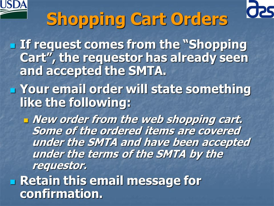 SMTA Shopping Cart (cont) Since web is totally separate from the database, this information has to be loaded into the database.