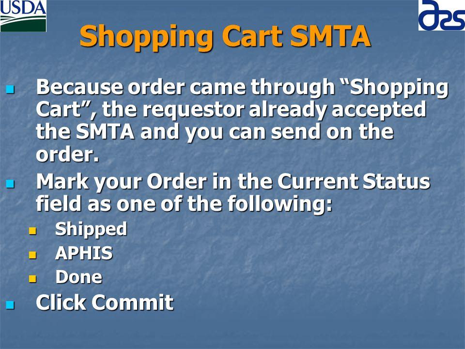 Check Status of SMTA Orders