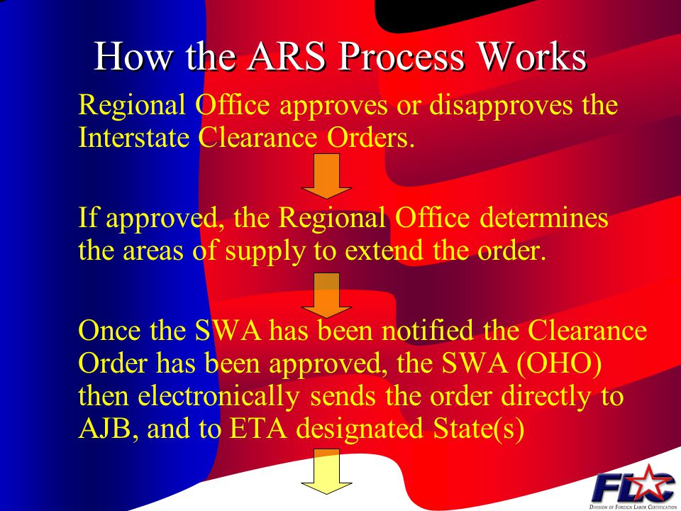 Components of a Clearance Order Nature of Employment –The scope of the job must be specified in terms of the crop and crop activities involved, the tasks to be performed, and the tools or equipment used Employment Period –The duration of employment must cover the estimated hours of work per day and per week and the anticipated starting and ending dates of employment