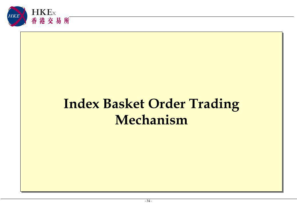 - 34 - Index Basket Order Trading Mechanism
