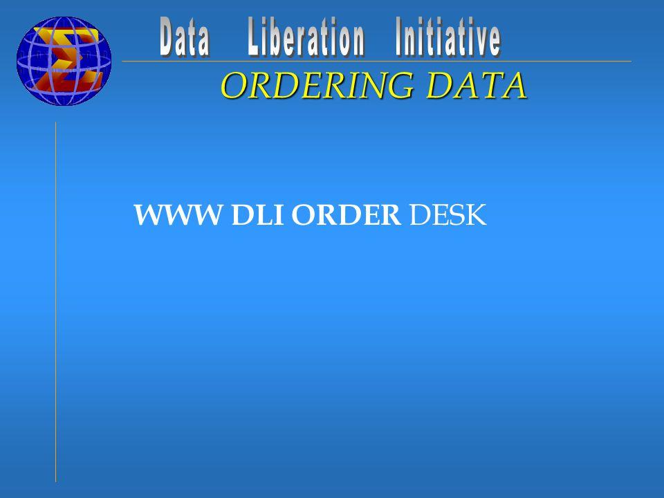 WWW DLI ORDER DESK ORDERING DATA