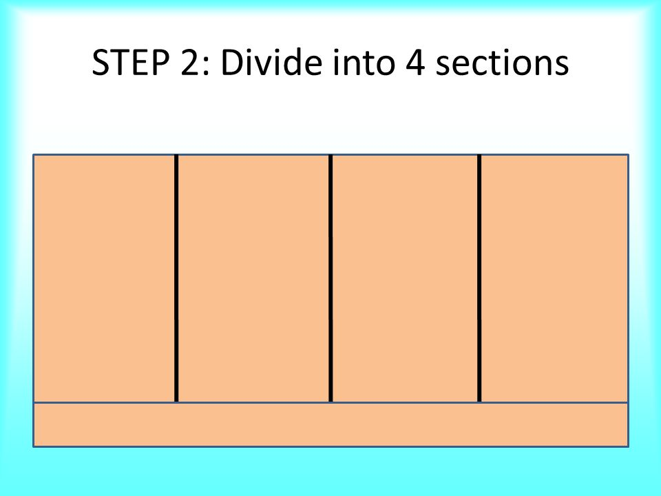 STEP 3: LABEL Sections STEP 1: STEP 2: STEP 3: STEP 4: ORDER OF OPERATIONS