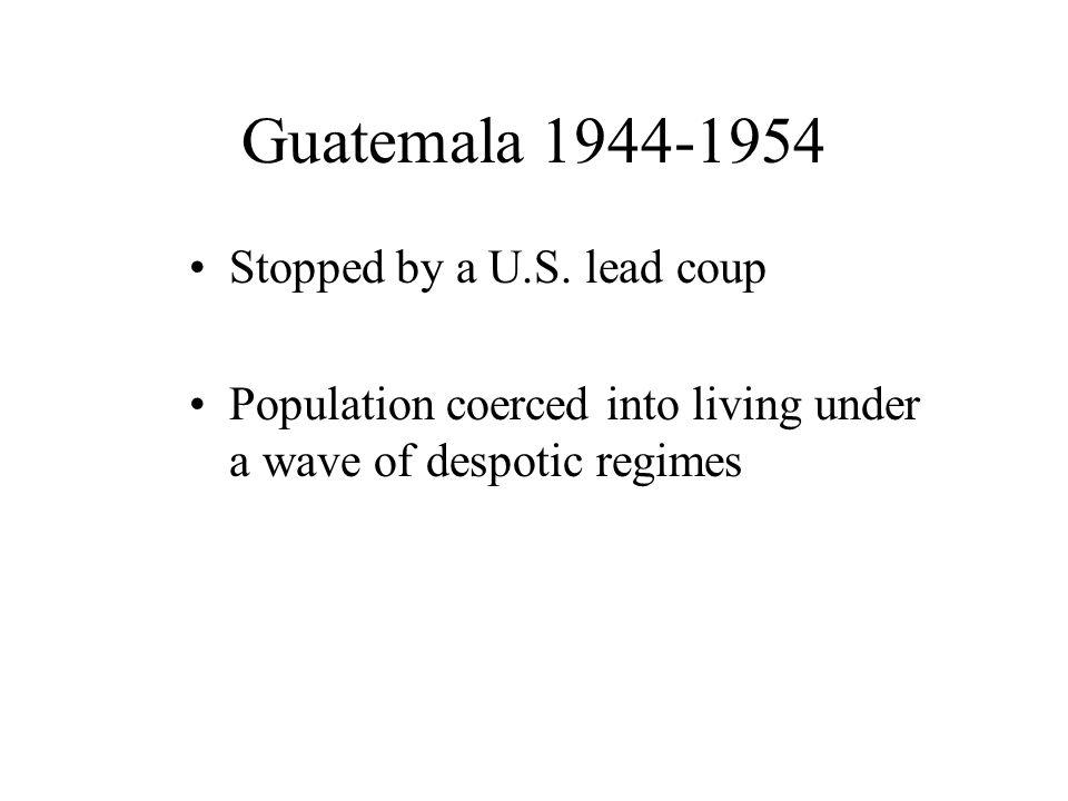 Guatemala 1944-1954 Stopped by a U.S.
