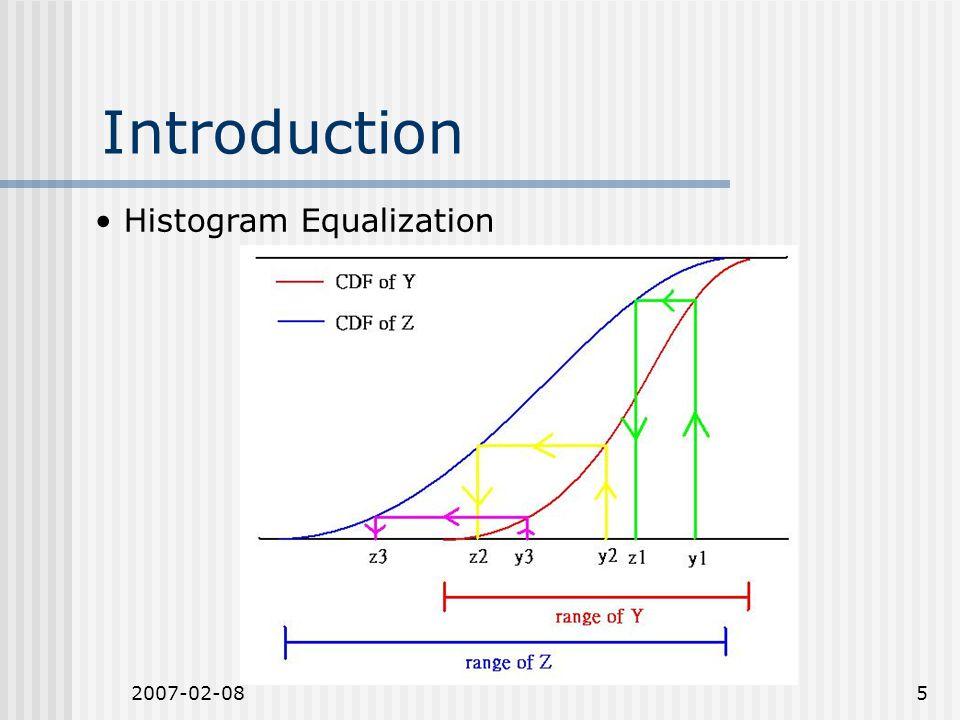 2007-02-085 Introduction Histogram Equalization