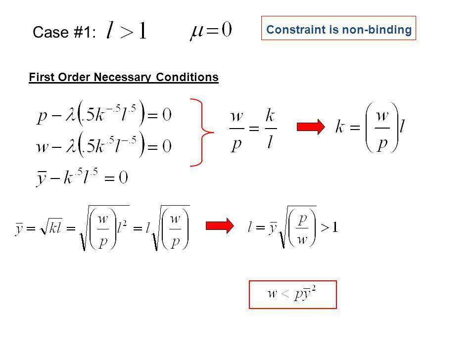 Case #1: Constraint is non-binding